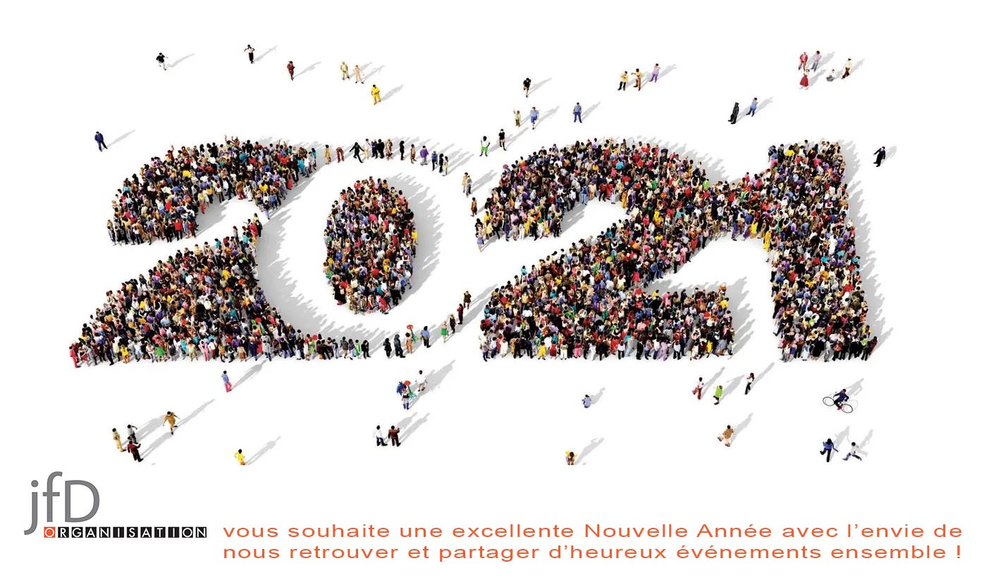 JFD Organisation vous souhaite une excellente Nouvelle Année pleine de projets et d'événements ! A vite en 2019 ! JFDo